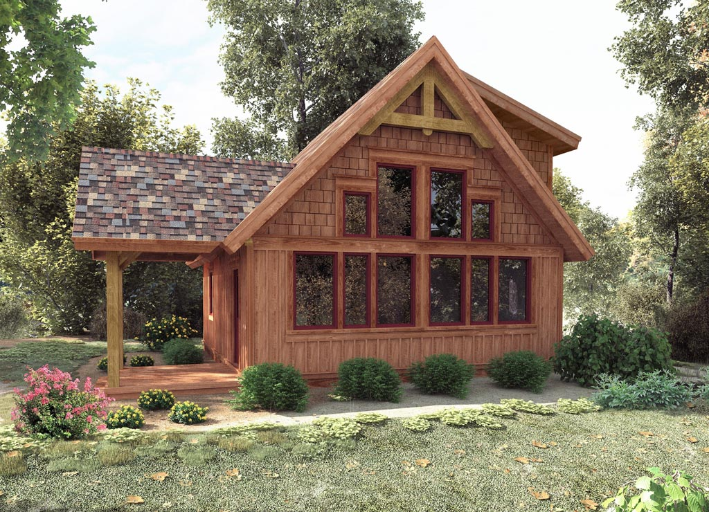 Ohio timber frame homes chestnut timber frames for Small timber frame house plans