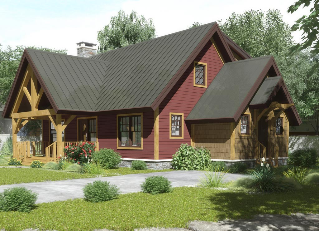 Ohio timber frame homes chestnut timber frames for Timber framed house plans